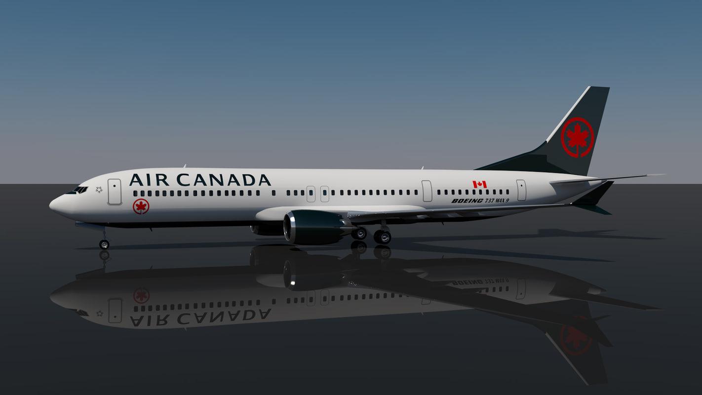 3D air canada 737 9