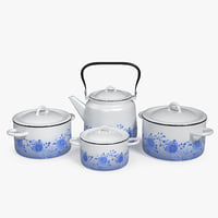 enameled tableware set model