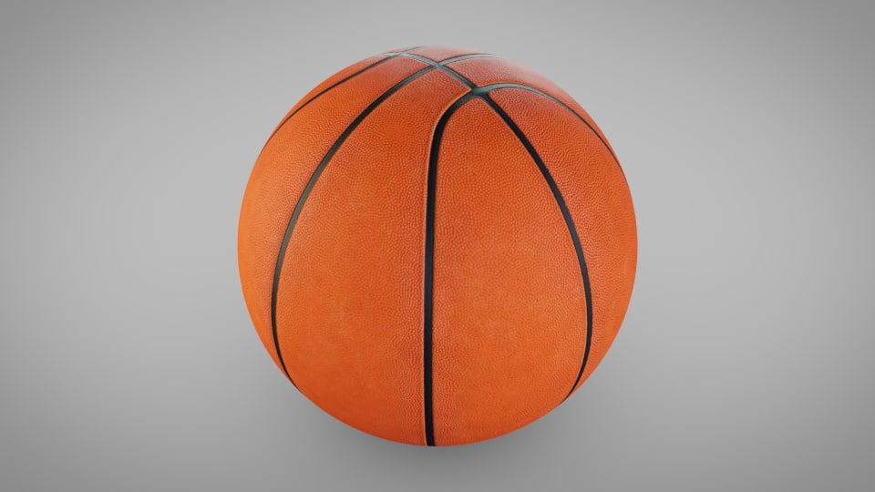 basketball ball basket model