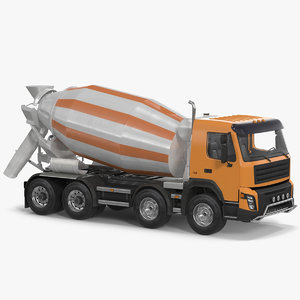 3d cement mixer vehicle generic