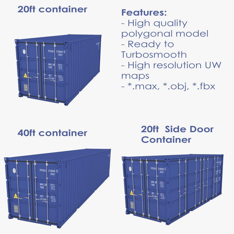 3 industrial container model