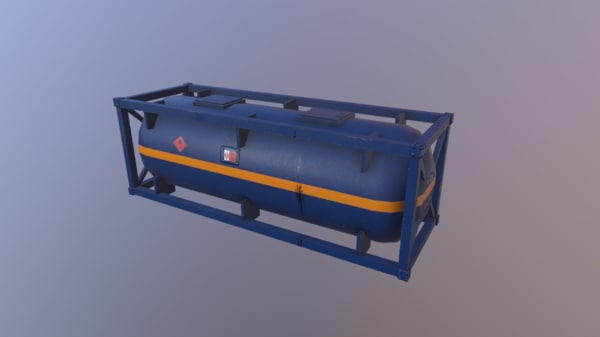 3D tank container model