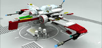 3D lego sw star fighter