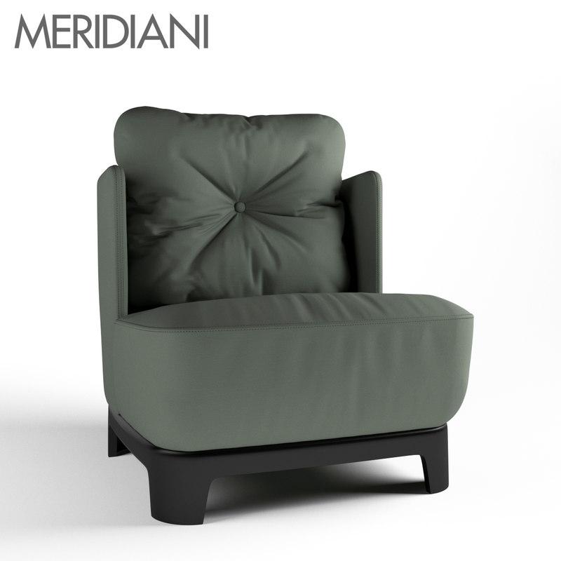 meridiani keaton armchair 3D model