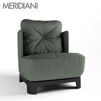 meridiani keaton armchair 3D model