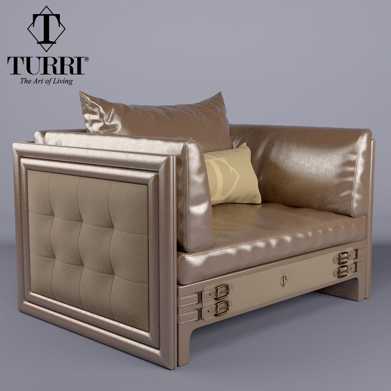 armchair turri 3D model