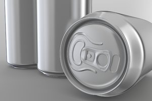 3D model beer soda aluminum cans
