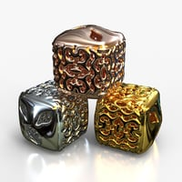 3D jewelry alien charm