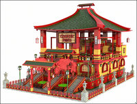 3D chinese restaurant model