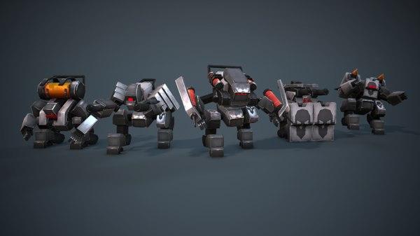 robot space sci-fi 3D