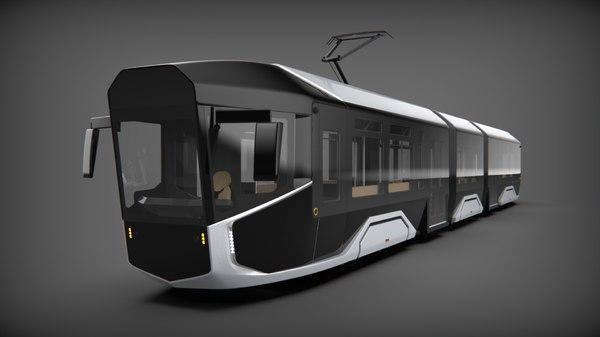 r1 1 tram 3D model