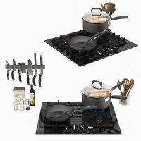 appliance cooktop cookware 3D