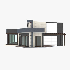 3D store pavilion