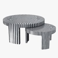 table carlotta marble 3D model