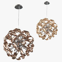 chandelier turbio lightstar light 3D