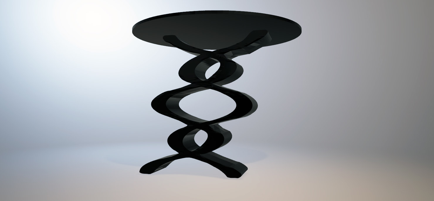 3D model twin snakes table