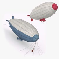 airships sky ready 3D model