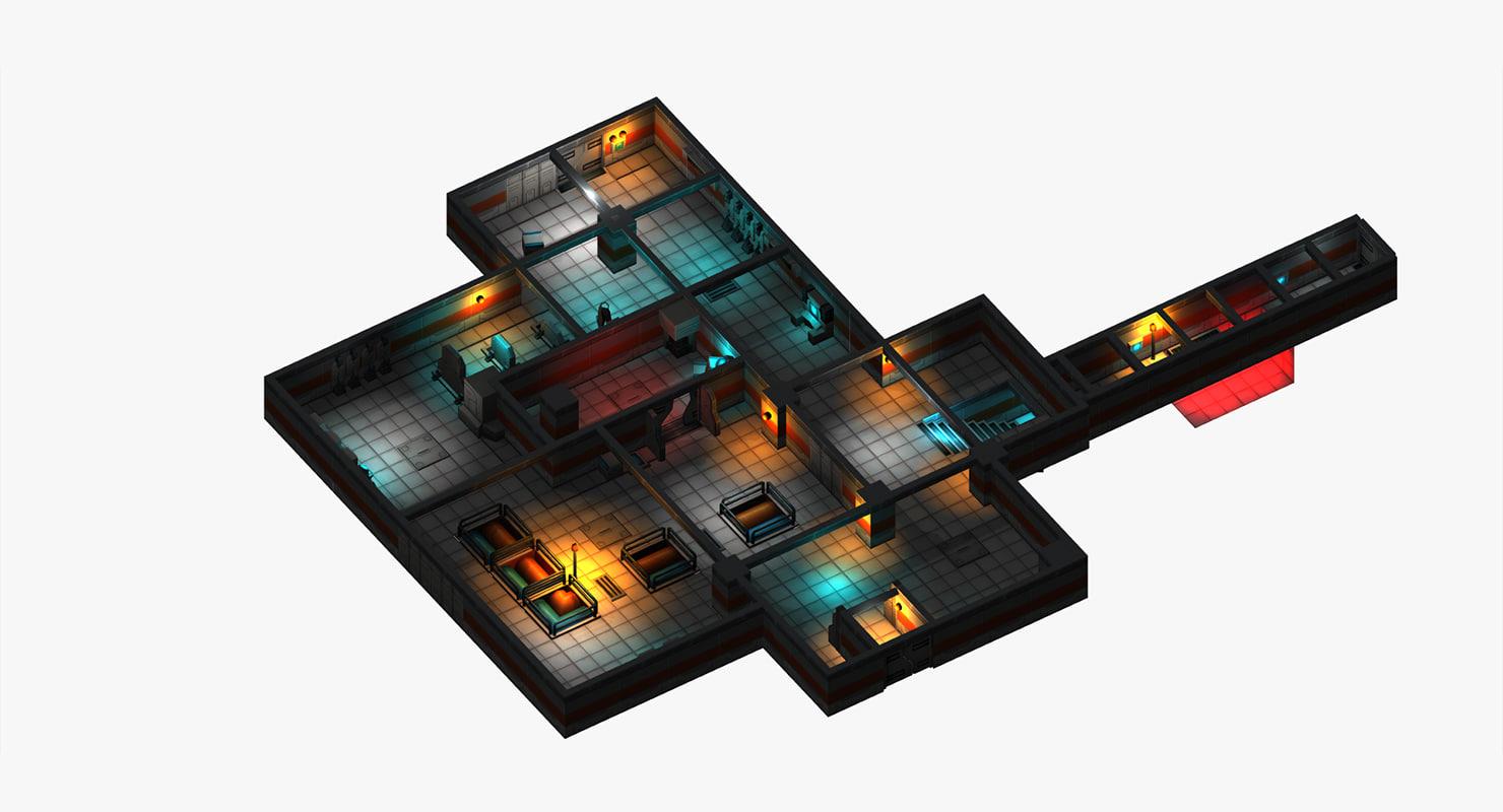 3D sci-fi sci fi model