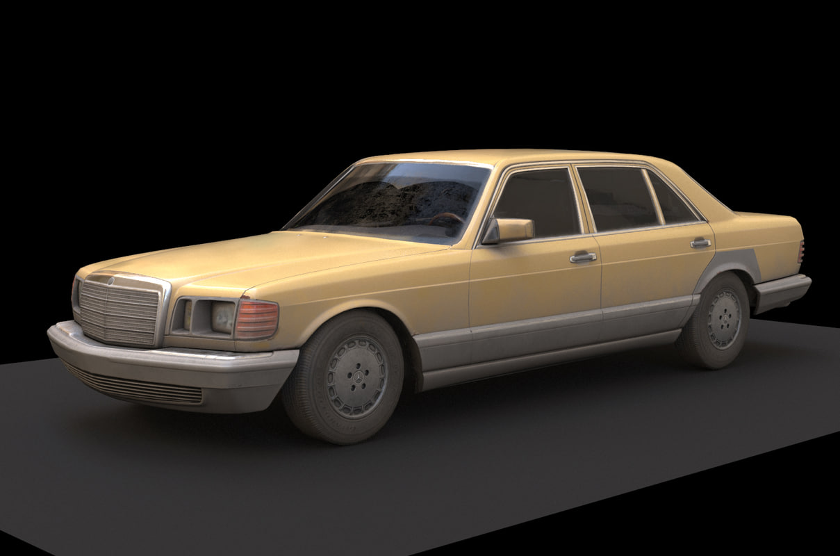 Mercedes Benz W126 Game Model