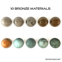 10 Bronze Material shaders for Cinema4d