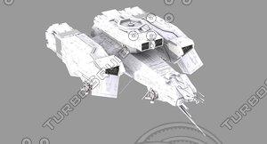 3D model spacecraft alien