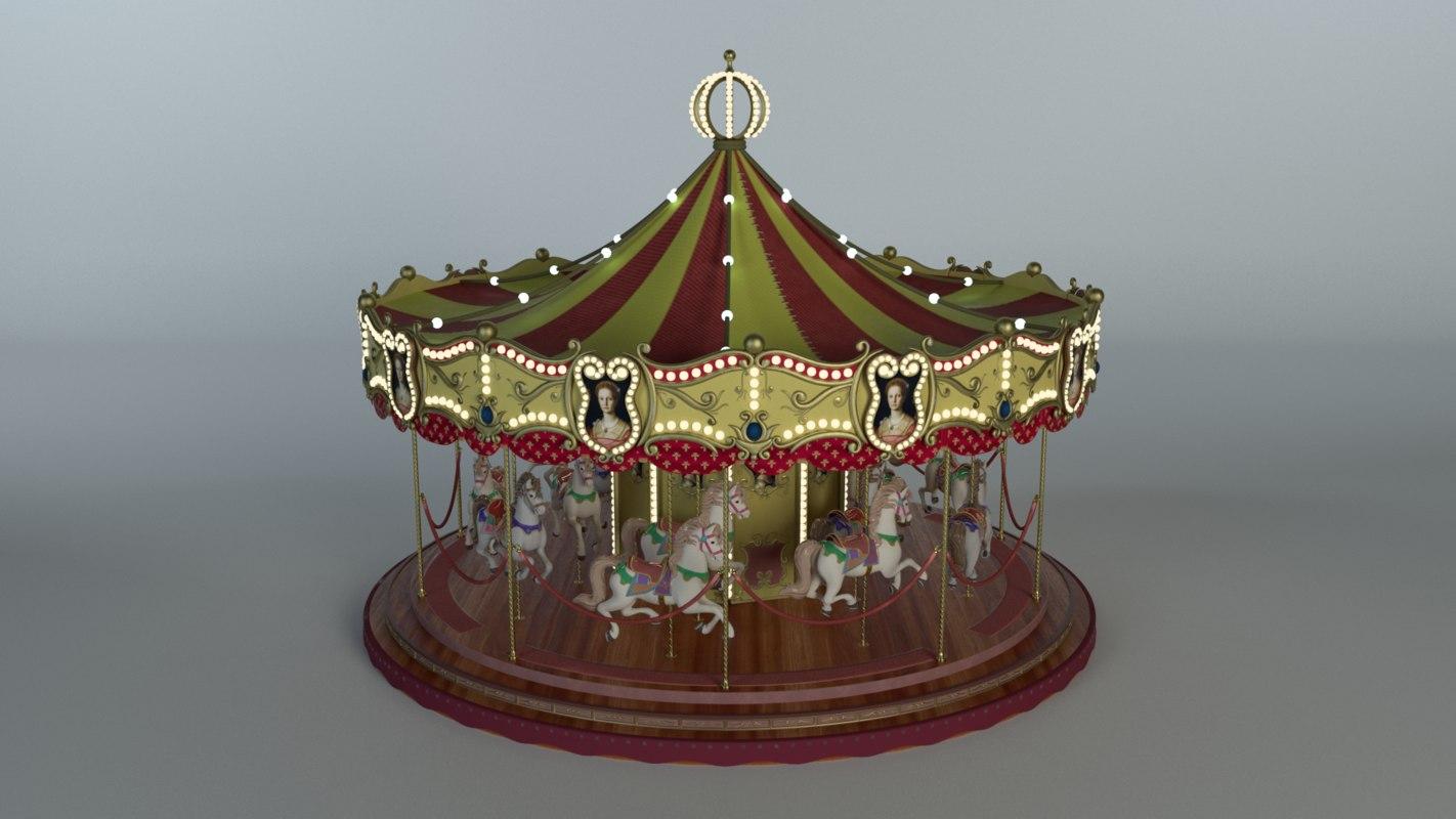 carousel merry 3D