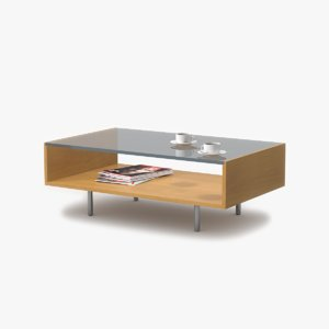 3d model of coffee table maple wood