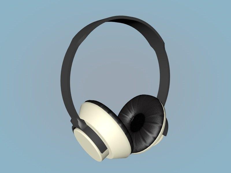 headphone controles 3D model