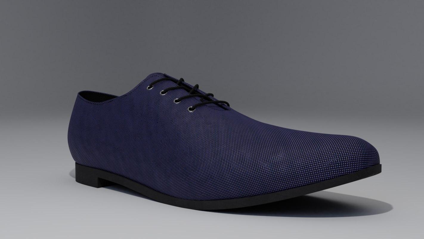 3D model oxford shoes