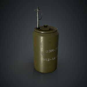 3D soviet anti-personnel landmine model
