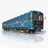 3D moscow subway train model