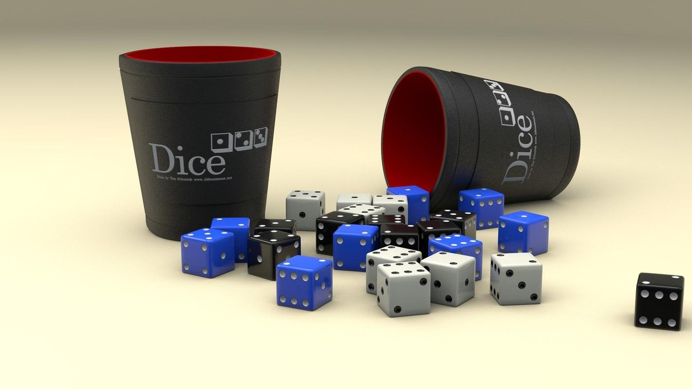 3D dice cup model
