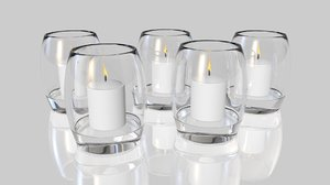 3D votive candles