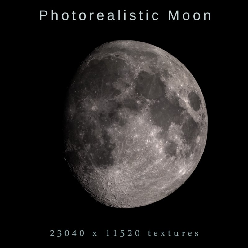 3D moon photorealistic