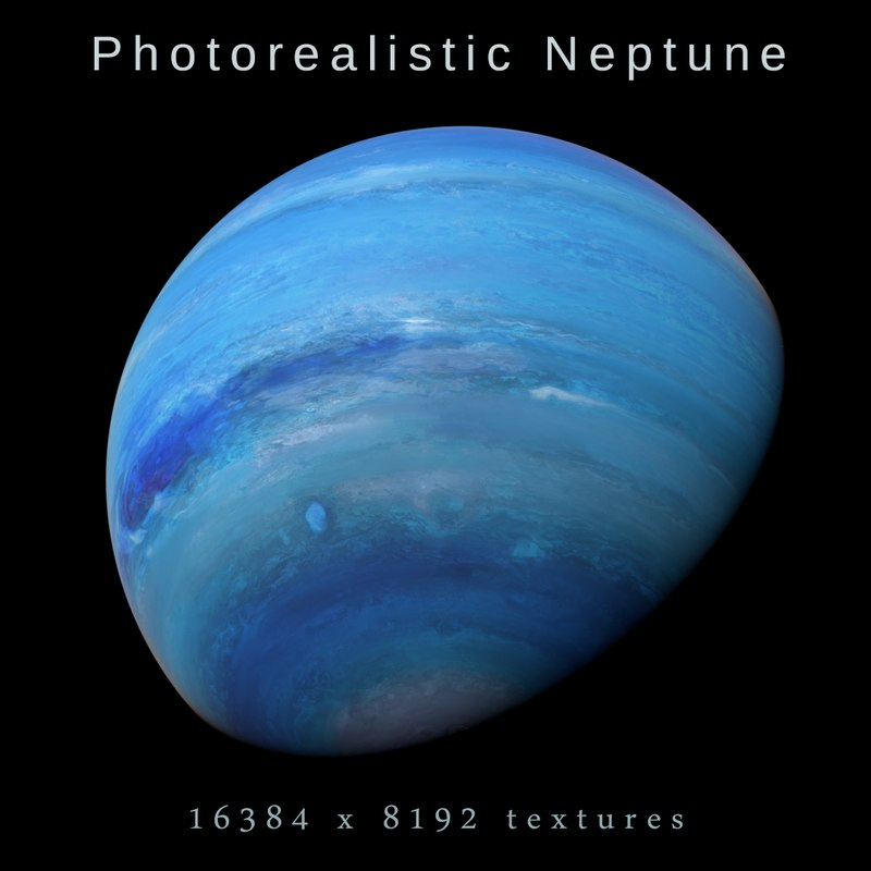 3D photorealistic neptune 8k model