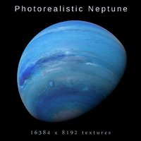 3D photorealistic neptune 8k model
