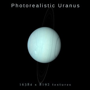 photorealistic uranus 8k 3D model