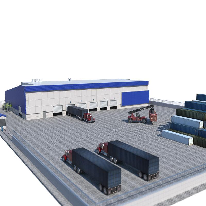 3D logistics building