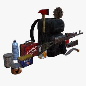 zombie survival pack 3d 3ds