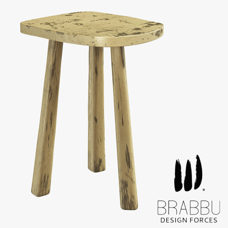 3D brabbu dolmen stool brass