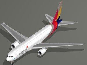 boeing 767-300f asiana cargo model