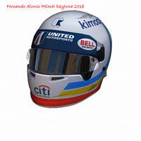3D alonso daytona helmet