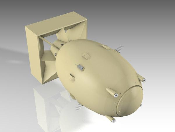 atomic bomb fat 3D