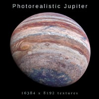 photorealistic jupiter 8k 3D model