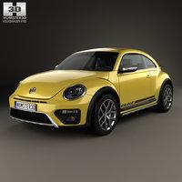 3D volkswagen beetle dune