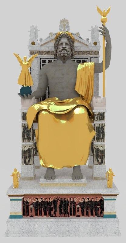 statue zeus 3D model