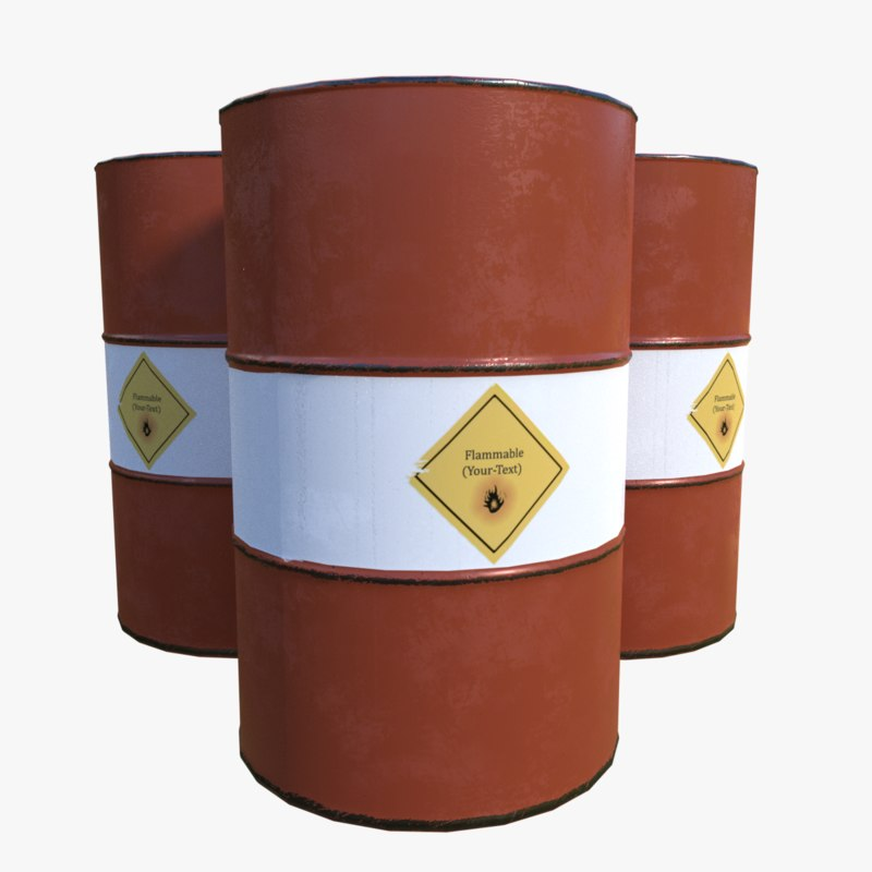 3D model metalness barrel