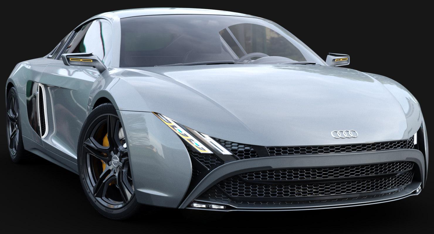 Concept Audi R D TurboSquid - Audi r10