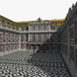 3D entrance versailles palace