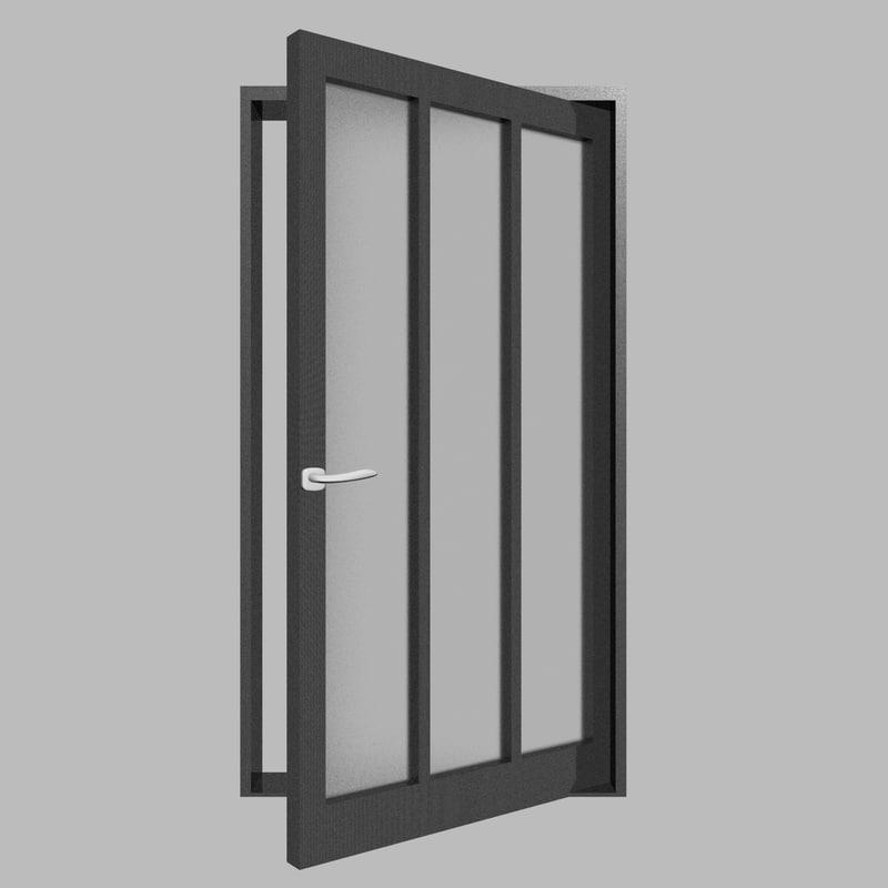 3D black door